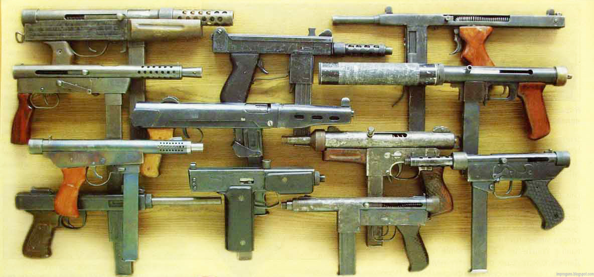 Homemade submachine guns – part 7 (Chechen rebel made 'Borz