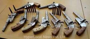 Image-Photo-faridabad-metro-June-18-Firearms Seized in Burdwan West Bengal-1