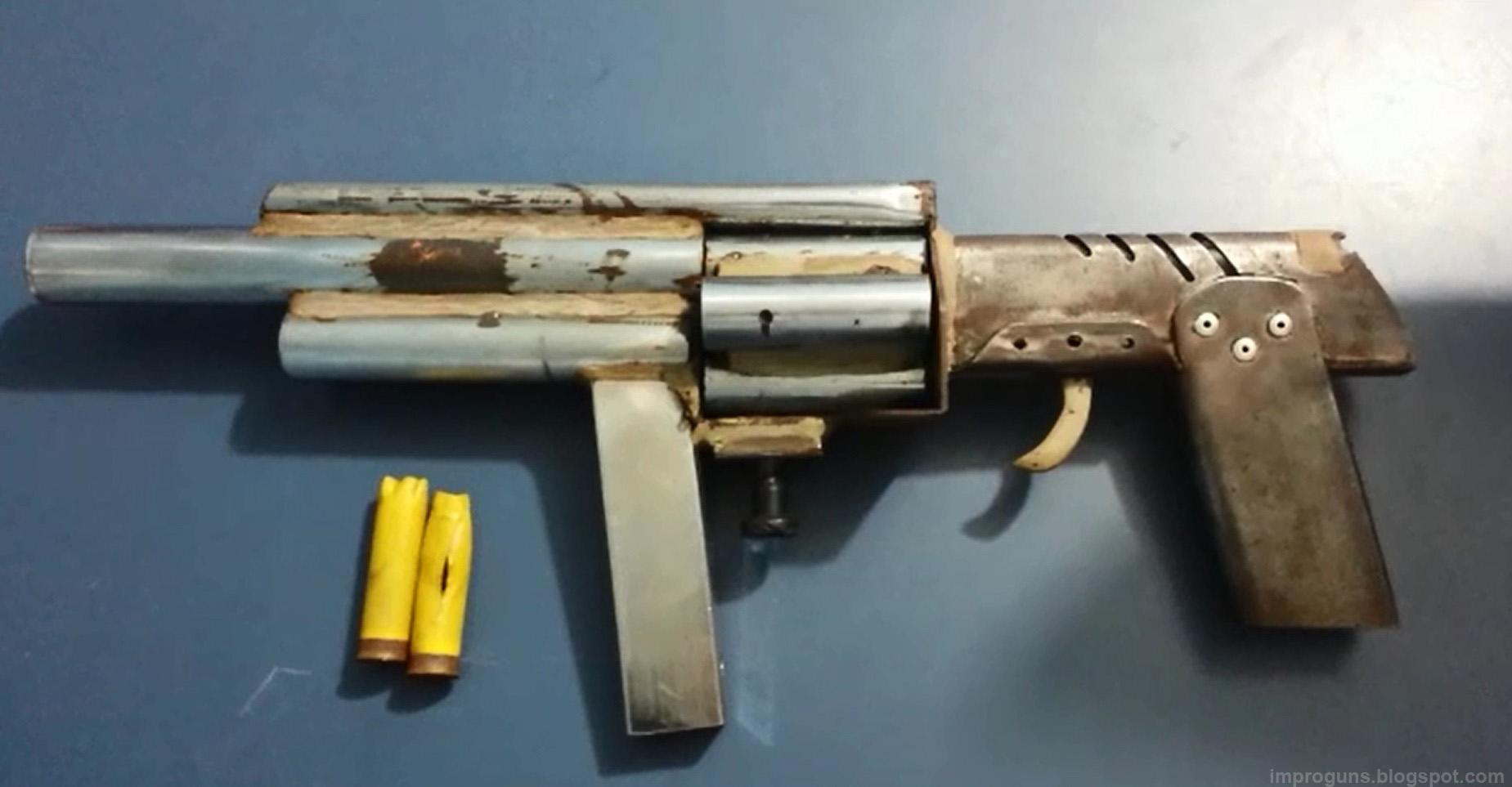 Improvised 12 Gauge Revolving Shotgun Brazil Impro Guns