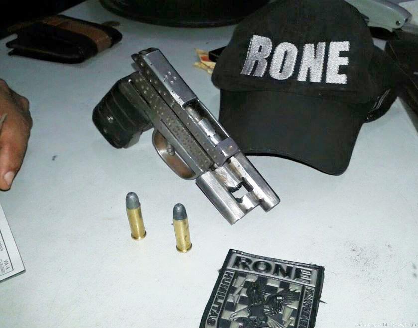 .38 O/U swing-barrel pistol (Brazil) | Impro Guns