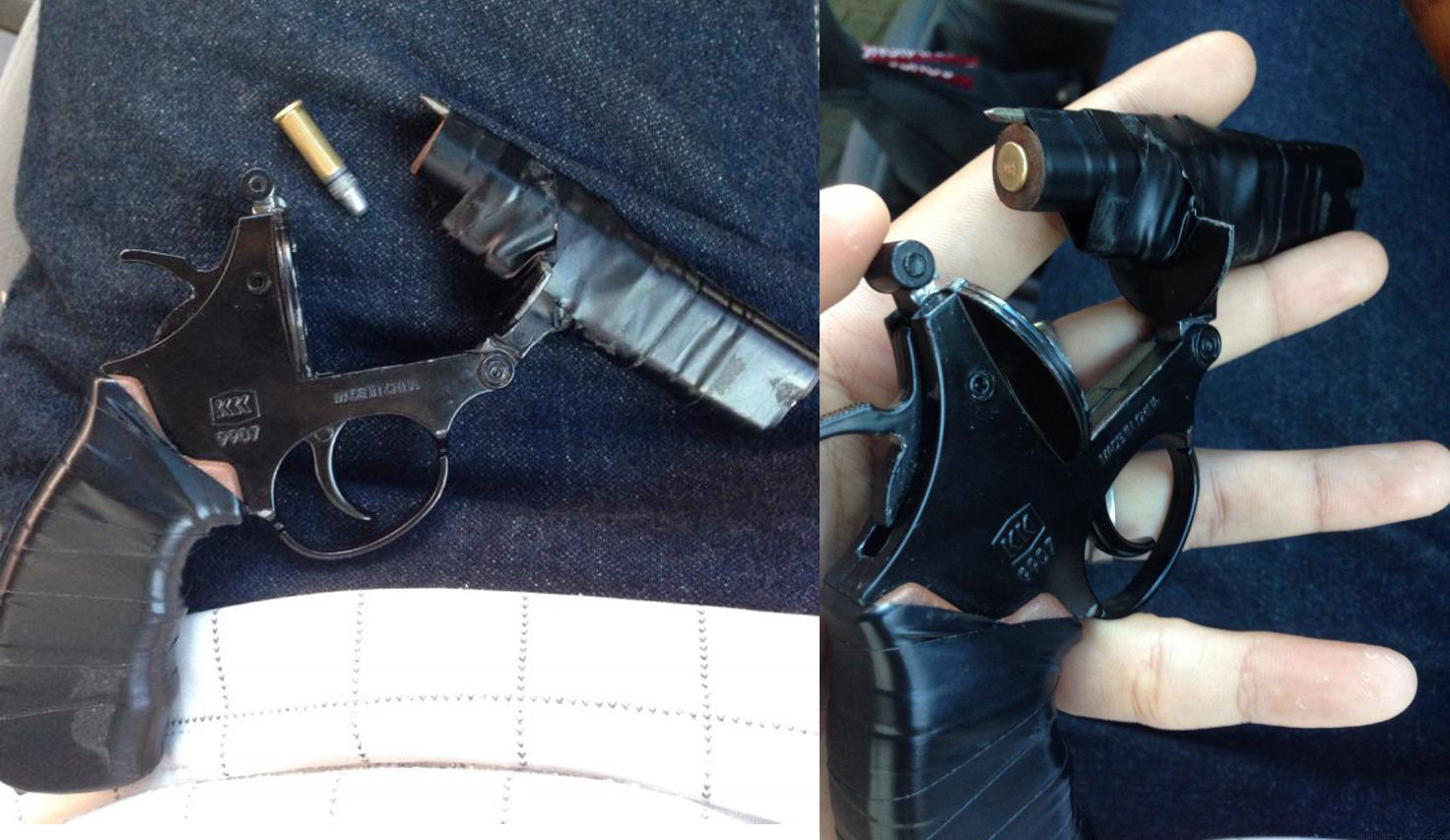 Improvised 22lr Pistol Crafted From Cap Gun Impro Guns
