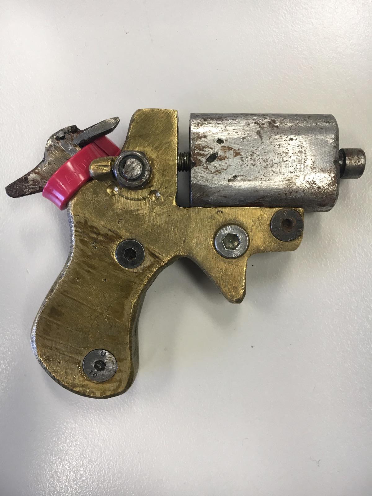 Homemade double barrel derringer seized by Australian police   Impro